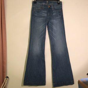 7 for all man kind dojo wide leg flare jeans
